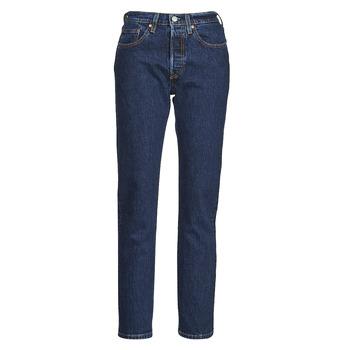textil Dam Jeans boyfriend Levi's 501 CROP Blå