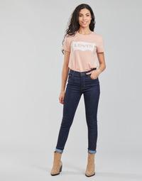 textil Dam Skinny Jeans Levi's 720 HIRISE SUPER SKINNY Blå