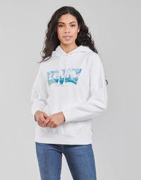 textil Dam Sweatshirts Levi's GRAPHIC STANDARD HOODIE Vit