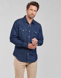 textil Herr Långärmade skjortor Levi's BARSTOW WESTERN STANDARD Blå