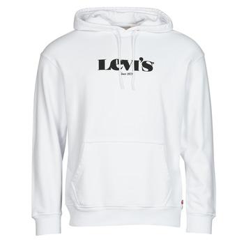 textil Herr Sweatshirts Levi's T2 RELAXED GRAPHIC PO Vit