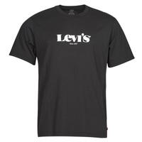 textil Herr T-shirts Levi's SS RELAXED FIT TEE Svart