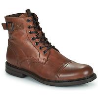 Skor Herr Boots Jack & Jones JFW SHELBY LEATHER Cognac