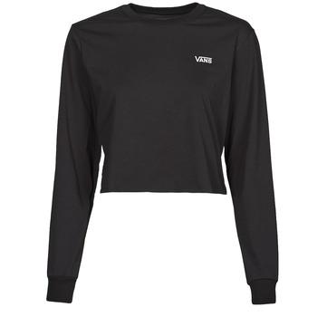 textil Dam Långärmade T-shirts Vans JUNIOR V LS CROP Svart
