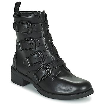 Skor Dam Boots Les Petites Bombes QUADRI Svart