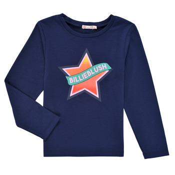 textil Flickor Långärmade T-shirts Billieblush DEKOU Marin
