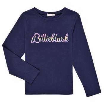 textil Flickor Långärmade T-shirts Billieblush PETRA Marin