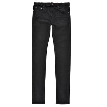 textil Pojkar Skinny Jeans Teddy Smith FLASH SKINNY Svart