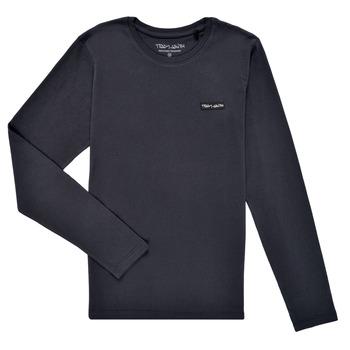 textil Pojkar Långärmade T-shirts Teddy Smith T-NARK ML Marin