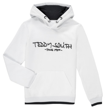 textil Pojkar Sweatshirts Teddy Smith SICLASS HOODY Vit