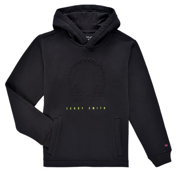 textil Pojkar Sweatshirts Teddy Smith S-RUDY HOODY Svart