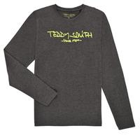 textil Pojkar Långärmade T-shirts Teddy Smith TICLASS3 ML Grå