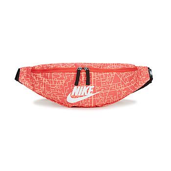 Väskor Dam Midjeväskor Nike NK HERITAGE WSTPCK FA21 AOP2 Rosa / Svart / Vit