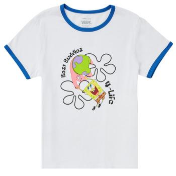 textil Flickor T-shirts Vans VANS X SPONGEBOB BEST BUDDIES RINGER Vit