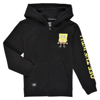 textil Pojkar Sweatshirts Vans BY VANS X SPONGEBOB HAPPY FACE KIDS FZ Svart