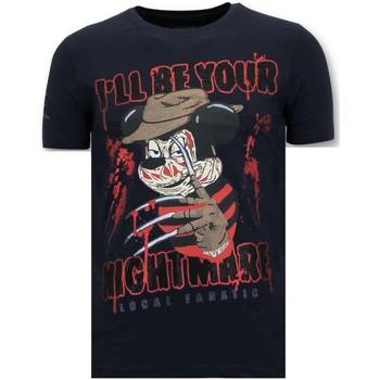 textil Herr T-shirts Lf Tuff Freddy Krueger B Blå