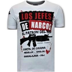 textil Herr T-shirts Lf Lyx Los Jefes The Narcos W Vit