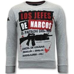 textil Herr Sweatshirts Lf 's Los Jefes The Narcos G Grå