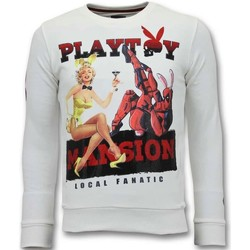 textil Herr Sweatshirts Lf The Playtoy Sion W Vit