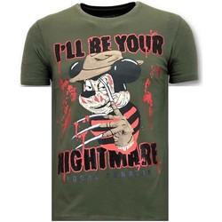 textil Herr T-shirts Lf Freddy Krueger G Grön
