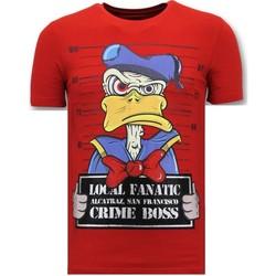 textil Herr T-shirts Lf Lyx T Skjorta Alcatraz Prisoner R Röd