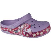 Skor Barn Träskor Crocs Fun Lab Unicorn Band Clog Violet