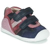 Skor Flickor Sneakers Biomecanics BIOGATEO SPORT Marin / Rosa