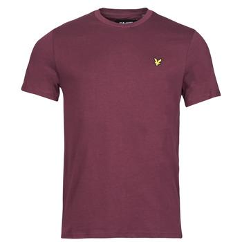textil Herr T-shirts Lyle & Scott ROBINA Bordeaux