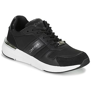 Skor Dam Sneakers Calvin Klein Jeans FLEXRUNNER MIXED MATERIALS Svart / Silverfärgad