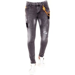 textil Herr Stuprörsjeans Lf Jeans Färgstänk Grå