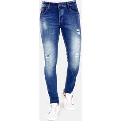 textil Herr Stuprörsjeans Lf Jeans Färgstänk Blå