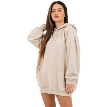 textil Dam Sweatshirts Sixth June Robe sweat Femme beige