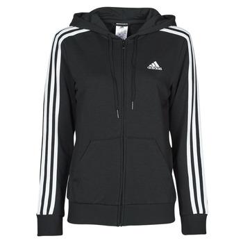 textil Dam Sweatshirts adidas Performance W 3S FT FZ HD Svart