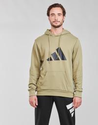 textil Herr Sweatshirts adidas Performance M FI 3B HOODIE Grön