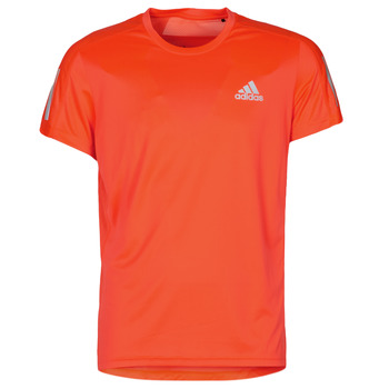 textil Herr T-shirts adidas Performance OWN THE RUN TEE Solar / Röd