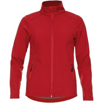 textil Dam Jackor Gildan SS800L Röd