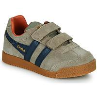 Skor Barn Sneakers Gola HARRIER STRAP Beige / Blå
