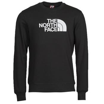 textil Herr Sweatshirts The North Face DREW PEAK CREW Svart / Vit