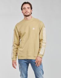 textil Herr Sweatshirts adidas Originals LOCK UP CREW Beige