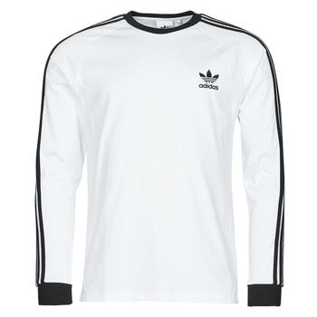 textil Herr Långärmade T-shirts adidas Originals 3-STRIPES LS T Vit