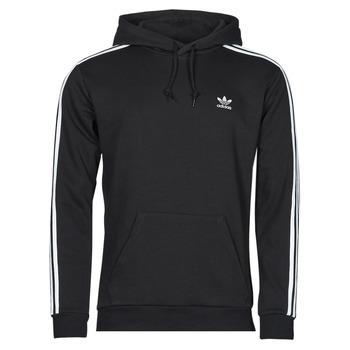 textil Herr Sweatshirts adidas Originals 3-STRIPES HOODY Svart
