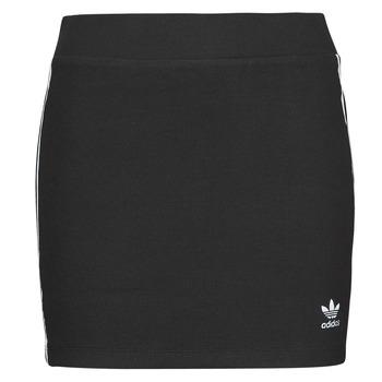 textil Dam Kjolar adidas Originals 3STRIPES SKIRT Svart