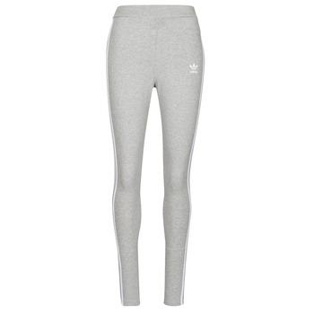 textil Dam Leggings adidas Originals 3 STRIPES TIGHT Ljung / Grå
