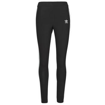 textil Dam Leggings adidas Originals 3 STRIPES TIGHT Svart