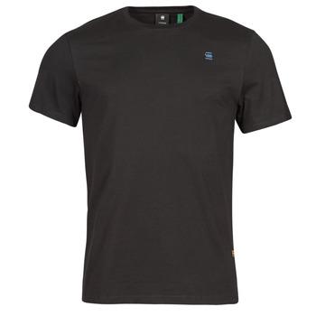 textil Herr T-shirts G-Star Raw BASE-S R T SS Svart