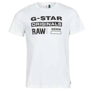 textil Herr T-shirts G-Star Raw GRAPHIC 8 R T SS Vit