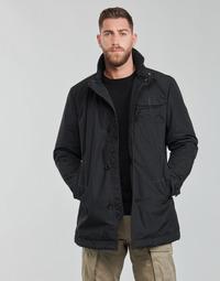 textil Herr Trenchcoats G-Star Raw UTILITY HB TAPE PDD TRENCH Svart