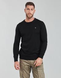 textil Herr Tröjor G-Star Raw PREMIUM BASIC KNIT R LS Svart