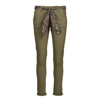 textil Dam Chinos / Carrot jeans Le Temps des Cerises LIDY900 Kaki