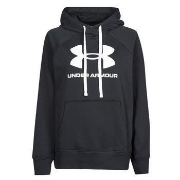 textil Dam Sweatshirts Under Armour RIVAL FLEECE LOGO HOODIE Svart / Vit